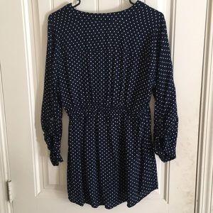 Motherhood Maternity Tops - Polkadot blue blouse